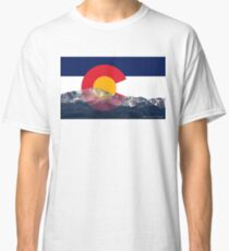 Pikes Peak Colorado Flag Classic T-Shirt