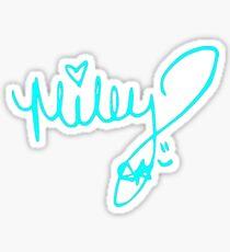 miley cyrus signature Sticker