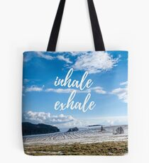 Inhale/Exhale Tote Bag
