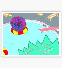 Broad City Where Are They Now Koosh Ball Sticker