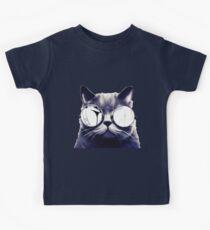 Vintage Cat Wearing Glasses Kids Clothes
