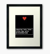 Determination - Item Framed Print