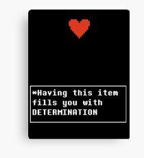 Determination - Item Canvas Print