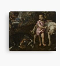 Tiziano Vecellio, Titian - Boy with Dogs in a Landscape Canvas Print