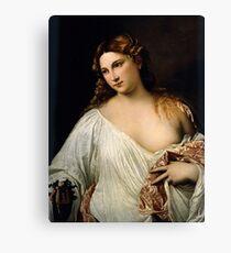 Tiziano Vecellio, Titian - Flora  Canvas Print