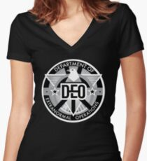 The DEO Women's Fitted V-Neck T-Shirt
