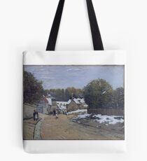 Early Snow at Louveciennes,  Tote Bag