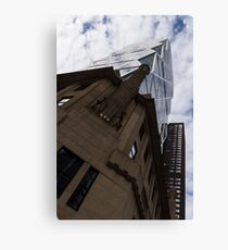 Looking Up - the Famous Hearst Tower in Midtown Manhattan, New York City, USA Canvas Print
