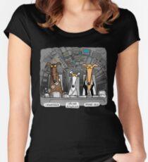 Jagdhund-Solo-T-Shirt Tailliertes Rundhals-Shirt