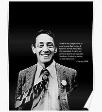 """Harvey Milk - """"Rechte"""" Zitat Poster"""