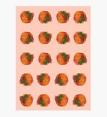 peach splash Photographic Print