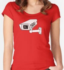 CCTV - George Orwell 1984 Women's Fitted Scoop T-Shirt