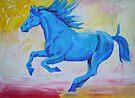 The Blue Horse by Juhan Rodrik