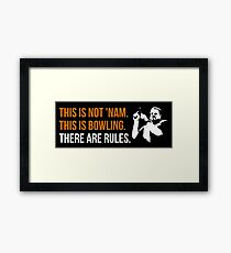 THIS IS NOT NAM Framed Print