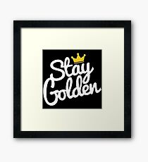 stay golden Framed Print