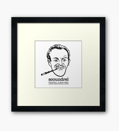 Scoundrel Framed Print