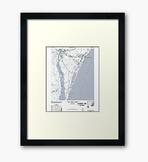 Art Print Historical 1948 Map of Wilmington NC Framed Print
