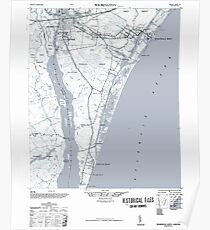 Art Print Historical 1948 Map of Wilmington NC Poster