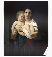 William Bouguereau  - The Elder Sister Poster
