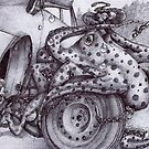 Octopus Changing a Tyre by Cantus