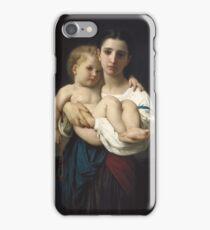 William Bouguereau  - The Elder Sister iPhone Case/Skin
