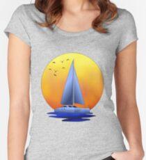 Catamaran Sailboat Women's Fitted Scoop T-Shirt