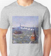 William Glackens - Breezy Day, Tugboats, New York Harbor  Unisex T-Shirt