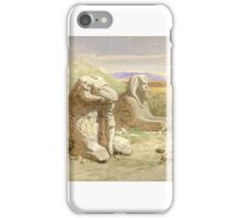 Carl Werner () ,Temple of Amun, Karnak iPhone Case/Skin