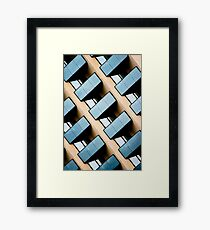 Rectangles and Reflection Framed Print
