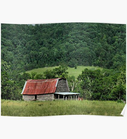 """""""A Farmer's Version of the Red Roof Inn""""... prints and products Poster"""
