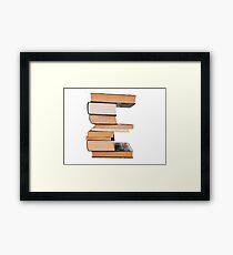 Alphabet e Framed Print