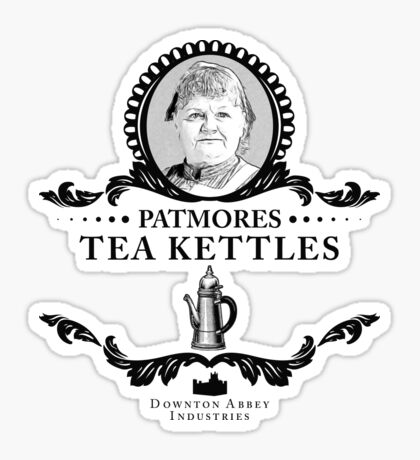 Patmores Tea Kettles - Downton Abbey Industries Sticker