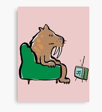 watching TV Canvas Print
