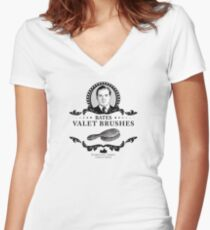 Bates Valet Brushes - Downton Abbey Industries Women's Fitted V-Neck T-Shirt