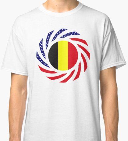 Belgian American Multinational Patriot Flag Series Classic T-Shirt