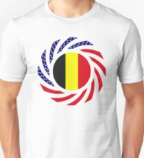 Belgian American Multinational Patriot Flag Series T-Shirt