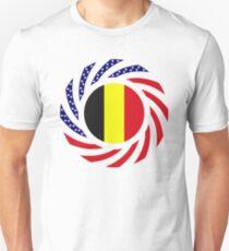 Belgian American Multinational Patriot Flag Series Unisex T-Shirt