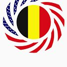 Belgian American Multinational Patriot Flag Series by Carbon-Fibre Media