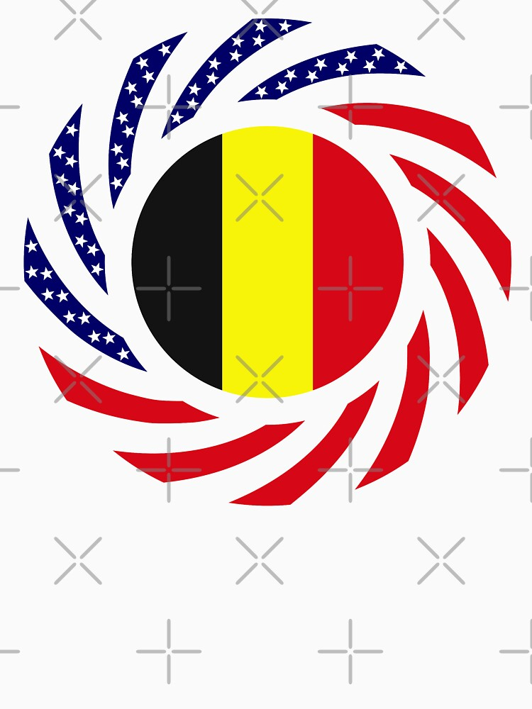 Belgian American Multinational Patriot Flag Series by carbonfibreme