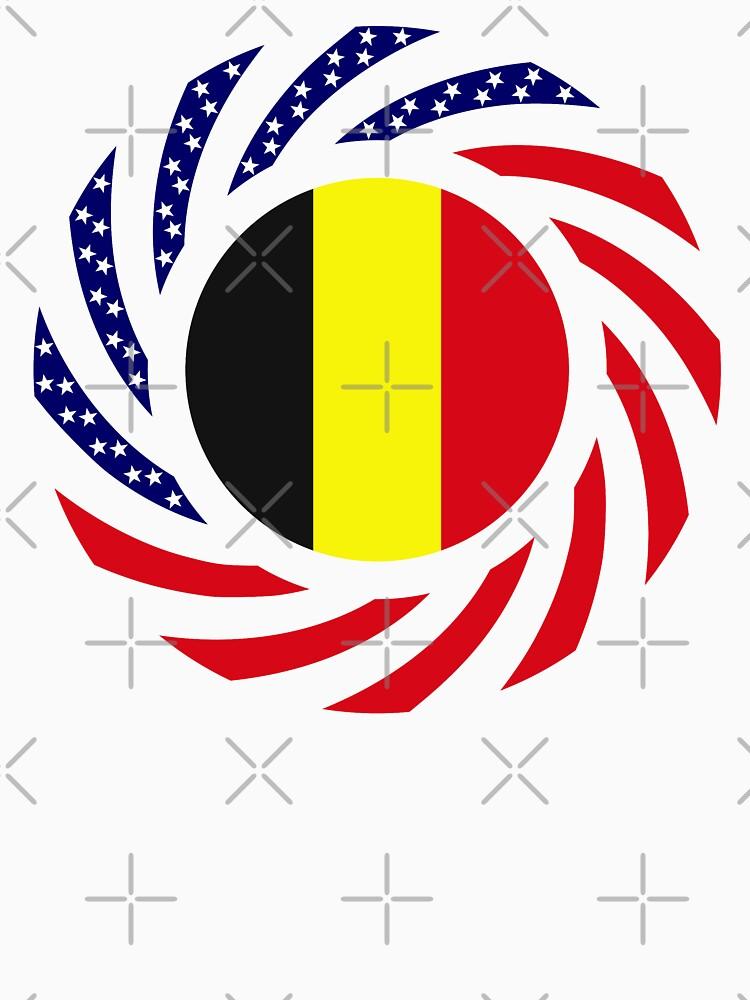Belgian American Multinational Patriot Flag Series by carbonfibreme