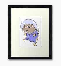 Space hamster Framed Print