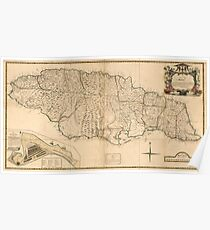 American Revolutionary War Era Maps 1750-1786 167 A new map of Jamaica in which the several towns forts and settlements are accurately laid down as well as ye Poster