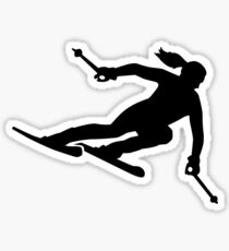Skiing woman Sticker