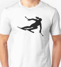 Skiing woman Unisex T-Shirt