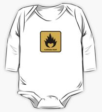 Flammable Heart One Piece - Long Sleeve