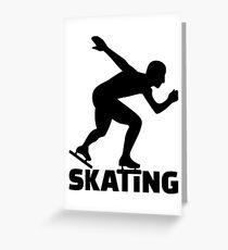 Skating Greeting Card