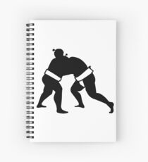 Cuaderno de espiral la lucha de sumo