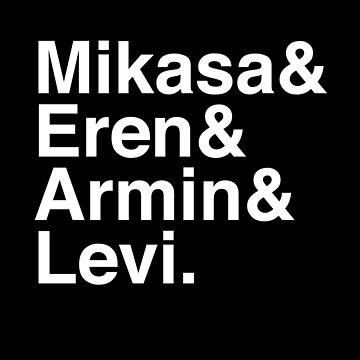 Mikasa & Eren & Armin & Levi. (Attack on Titan) (Inverse) by Kitmagic