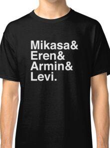 Mikasa & Eren & Armin & Levi. (Attack on Titan) (Inverse) Classic T-Shirt