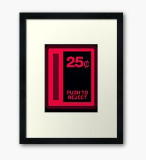 Arcade Coin Slot Framed Print